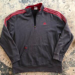 Adidas 1/4 zip pullover large vintage